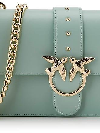 Pinko Love Classic Simply C Vitello Womens Cross-Body Bag, Green (Verde Cammeo), 7.5x16.5x27 Centimeters (W x H x L)