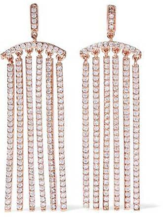 Kenneth Jay Lane Cz By Kenneth Jay Lane Woman Rose Gold-tone Crystal Earrings Rose Gold Size