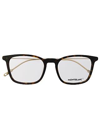 Montblanc Armação de óculos quadrada - Marrom