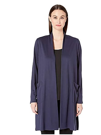 Eileen Fisher Long Cardigan (Indigo) Womens Sweater
