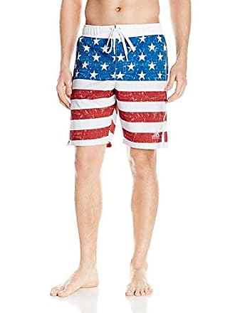 0de29848ae ZeroXposur Mens Wicked American Flag Volley Swim Short, White Glory, Large