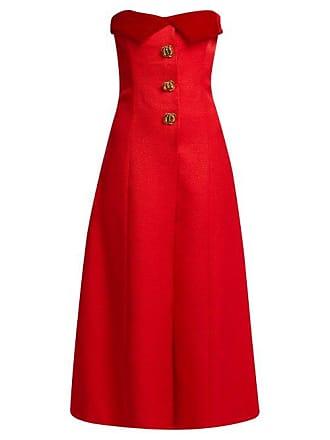 7494ab9c27a0 Rebecca de Ravenel Rebecca De Ravenel - Strapless Silk And Wool Blend Midi  Dress - Womens