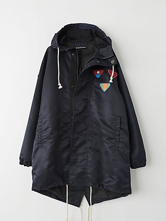Acne Studios FA-UX-OUTW000015 Navy blue Water repellent parka