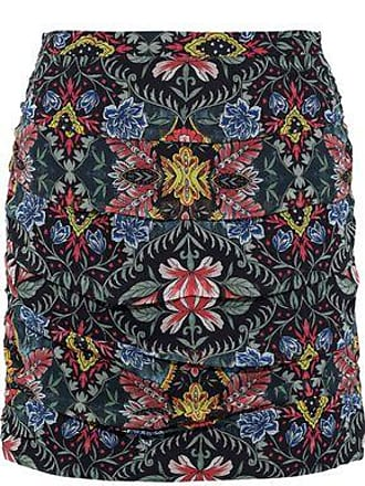 Rebecca Minkoff Rebecca Minkoff Woman Adalynn Ruched Floral-print Georgette Mini Skirt Emerald Size 2