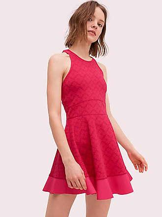 Kate Spade New York Spade Jacquard Tennis Dress, Kinetic Pink - Size XL