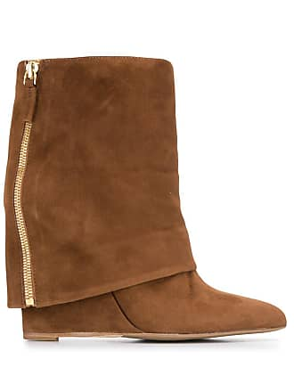 The Seller foldover flap boots - Marrom