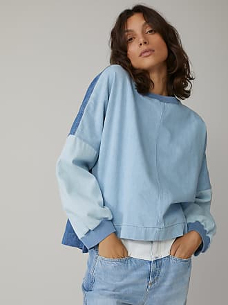Closed Patchwork Denim Jumper mid blue