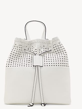 Vince Camuto Womens Vince Camuto Gabby - Perforated Backpack Snow White One Size AMAZONIA From Sole Society