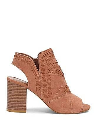 Forever 21 Forever 21 Open-Toe Cutout Booties Mocha