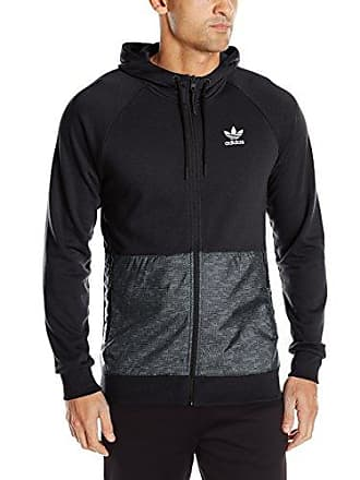 adidas Originals Mens Outerwear Sport Luxe Mixed Fabric Full Zip, Black, X-Large