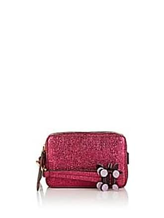 b180d915dc Anya Hindmarch Womens The Stack Double Leather Clutch - Md. Pink