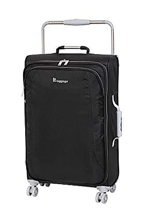 IT Luggage IT Luggage 27.6 Worlds Lightest 8 Wheel Spinner, Raven With Vapor Blue Trim