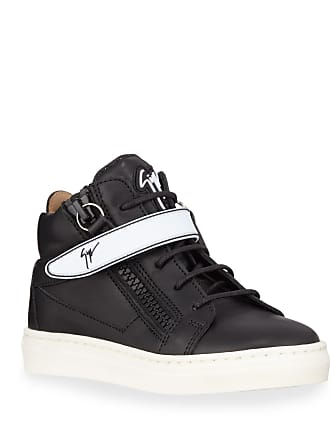 aa65a61b87847 Giuseppe Zanotti London Leather Grip-Strap High-Top Sneakers, Baby/Toddler/