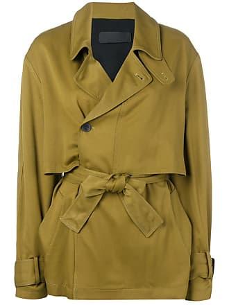 Haider Ackermann tie waist trench coat - Green
