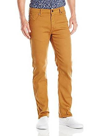 Southpole Mens Flex Stretch Basic Twill and Rinse Denim Pants, Caramel, 42x34