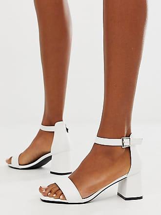 Glamorous Sandali bianchi con tacco largo-Bianco