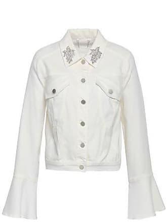 Elie Tahari Elie Tahari Woman Appliquéd Denim Jacket White Size XS
