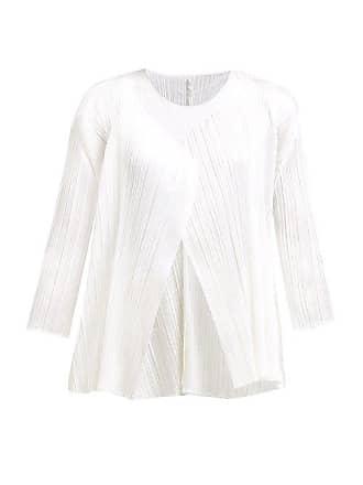 Pleats Please Issey Miyake Technical Pleat Flared Jacket - Womens - White