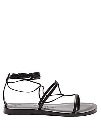 ÁLVARO GONZÁLEZ X Kim Hersov Kyah Leather Sandals - Womens - Black