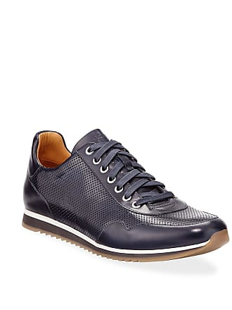 Magnanni Mens Buterlight Leather Sneakers, Navy