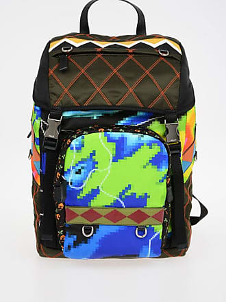 3b6fd170af Prada Printed Nylon Backpack with Leather Details size Unica
