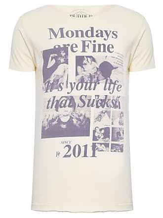 PURPLE YELLOW CAMISETA MASCULINA MONDAYS ARE FINE - AMARELO