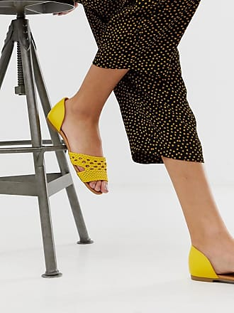Qupid Qupid woven flat shoes-Yellow