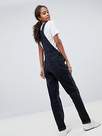 4560020e41 ... DESIGN Tall denim dungaree in washed black - Black. Asos Tall