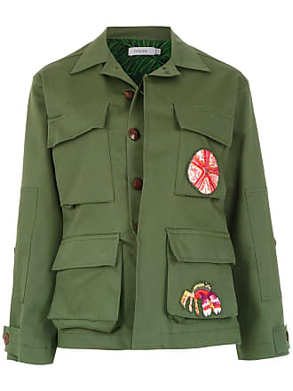 Isolda Jaqueta Army com patch - Verde