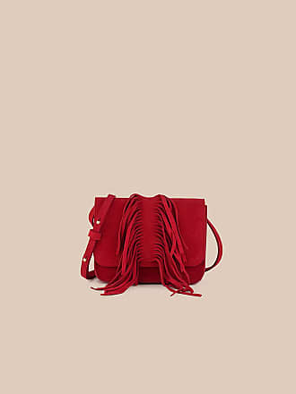 L'autre Chose DOWNSIZED BAG IN RUBY-RED SPLIT LEATHER