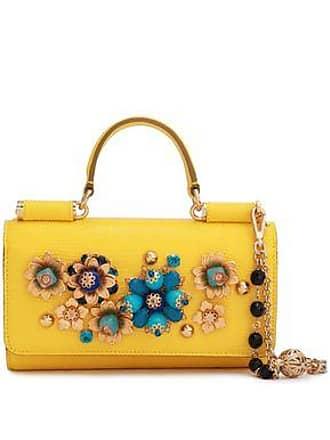 Dolce & Gabbana Dolce & Gabbana Woman Embellished Lizard-effect Leather Iphone Case Yellow Size