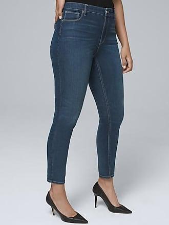White House Black Market Womens Curvy-Fit High-Rise Sculpt Fit Skinny Crop Jeans by White House Black Market, Medium Wash, Size 00 - Regular