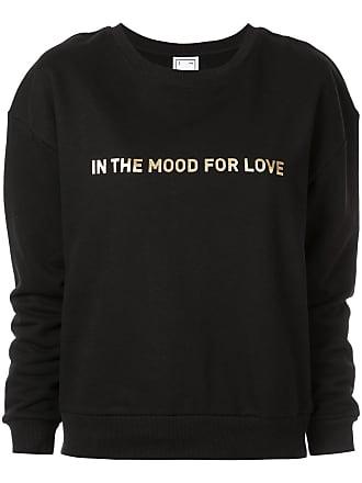 In The Mood For Love Suéter com estampa de logo - Preto