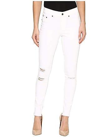 Hue Ripped Knee Denim Leggings (White) Womens Jeans