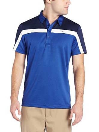 J.Lindeberg Mens Christer Cool Wave Golf Polo, Blue, X-Large