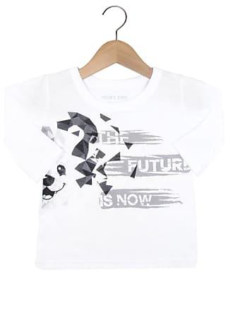 Tigor T. Tigre Camiseta Tigor T. Tigre Manga Longa Menino Branco