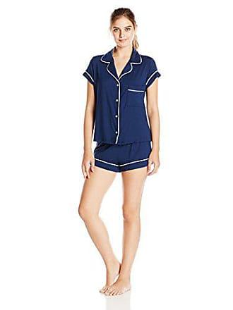badfd491b1c Eberjey Womens Gisele Two-Piece Short Sleeve   Short Pajama Sleepwear Set