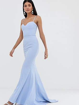 8255429b53e4c5 Jarlo cami strap maxi dress with button back detail in blue