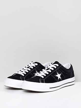 6064508a3e25 Converse One Star Ox Plimsolls In Black 158369C - Black