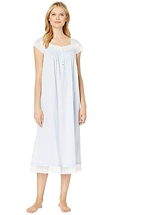cb47b126e8 Eileen West Cotton Woven Lawn Ballet Cap Sleeve Nightgown (Solid Light  Perri) Womens Pajama