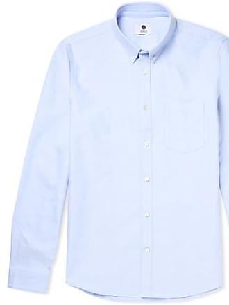 Nn.07 Sixten Slim-fit Button-down Collar Cotton Oxford Shirt - Sky 6612f0ba6005c