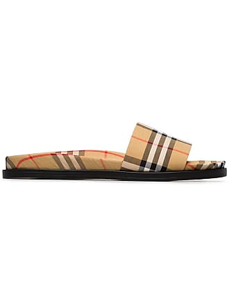 Burberry Vintage Check Slides - Yellow