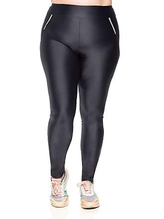 Mulher Elástica Legging Fitness Plus Size Zíper Reflect - Grafite - PS