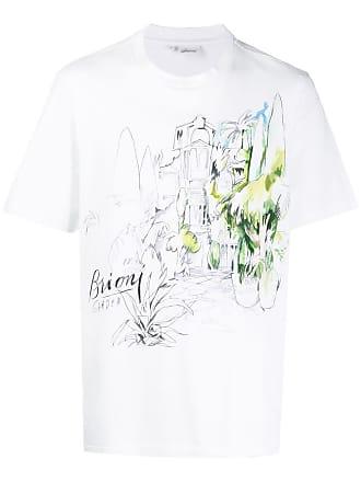 Brioni Camiseta com estampa de jardim - Branco