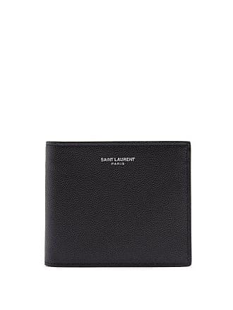 632a08ca8da Saint Laurent Bi Fold Pebbled Leather Wallet - Mens - Black
