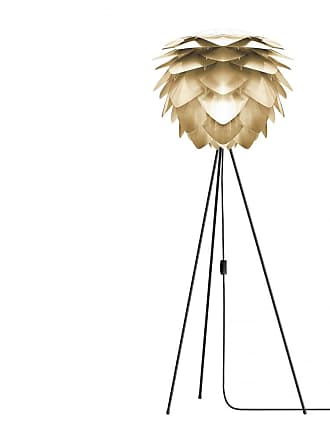 Umage Medium Brushed Brass Silvia Black Tripod Floor Lamp - Gold/Black