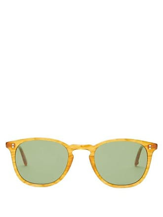 Garrett Leight Kinney 49 Square Acetate Sunglasses - Mens - Yellow