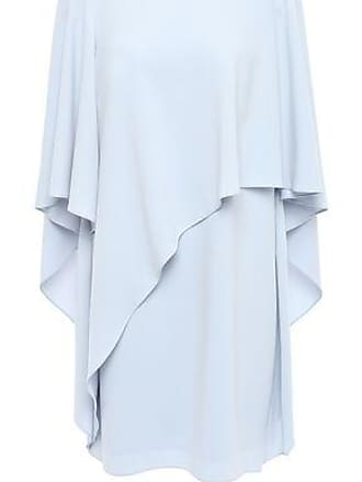 3996c3e134bd48 Halston Heritage Halston Heritage Woman Layered Draped Crepe Mini Dress Sky  Blue Size 4