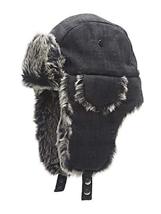 49f1c9c487e4 Dockers Mens Winter Warm Trapper Hat, Charcoal Design, Large/Extra Large