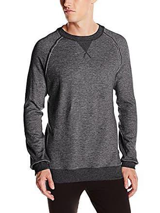 2(x)ist Mens Terry Pullover Sweatshirt, Black Heather, X-Large